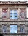 Kunstakademie Düsseldorf Mosaik mit Abbildung von Künstlern und Namen-Fries Cornelius, Schwind, Kaulbach, Ostseite rechts.jpg