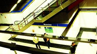 Moncloa (Madrid Metro) - Line 3 platforms, Moncloa