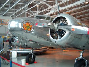 "Royal Aviation Museum of Western Canada - Lockheed Electra 10A ""CF-TCC"" in Trans-Canada Air Lines livery."