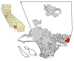 LA County Incorporated Areas Pomona highlighted.svg
