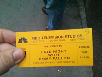Late Night with Jimmy Fallon - A ticket to the show on September 14, 2011