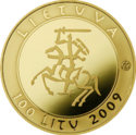 LT-2009-100litų-Millennium of the name of Lithuania-a.png