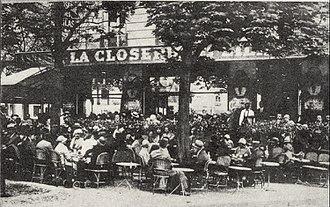 Années folles -  The Closerie des Lilas in 1909.