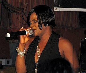 Lady Saw performing in Kingston, Jamaica
