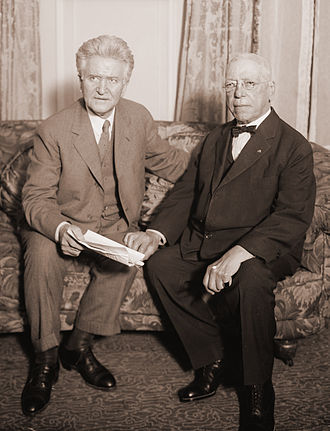 Samuel Gompers - Shortly before his death, Gompers (right) sat down with 1924 independent presidential hopeful, Robert M. La Follette Sr.