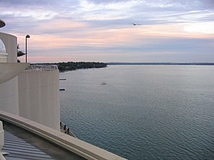 Lake Monona - View of Lake Monona from Monona Terrace