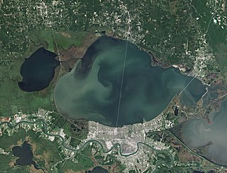 Lake Pontchartrain estuary located in southeastern Louisiana, United States