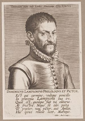 Dominicus Lampsonius - Lampsonius, by Hendrik Goltzius.
