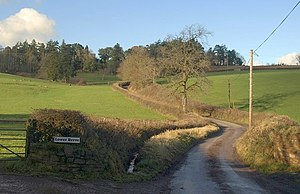 Zeal Monachorum - Image: Lane at Lower Burston