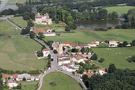 An aerial view of Saint-Pierre-la-Noaille