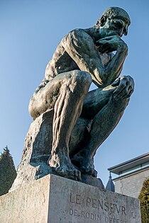 Le Penseur in the Jardin du Musée Rodin, Paris March 2014.jpg
