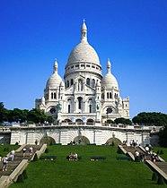 A Basílica do Sagrado Coração em Paris, França.
