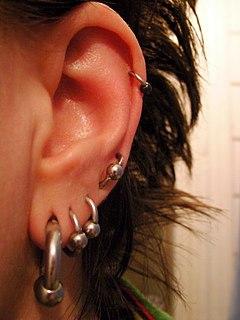 Orbital piercing Type of double hole body piercing