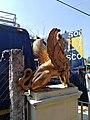 Leon alado en Almolonga en la exhacienda ahora museo.jpg