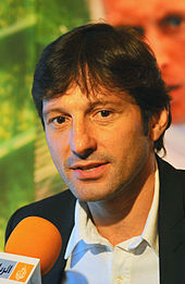 Paris Saint-Germain's Technical Director Leonardo during an interactive session in Doha.