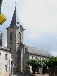 The church in Les Cars