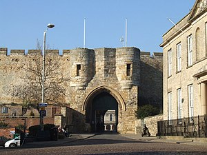 Lincoln Castle - The exterior of the east gate