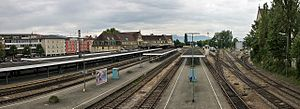 Lindau Hauptbahnhof - View of the tracks