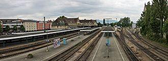 Lindau Hauptbahnhof - View of the tracks