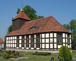 Lindow (Mark) - Protestant Church, built in 1689, in Schönberg in der Mark, a component of Lindow