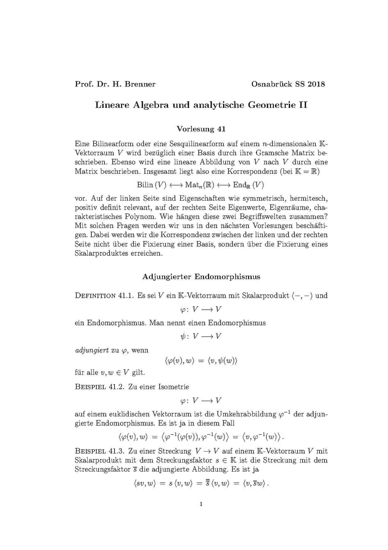 Lineare algebra 1 vorlesung online dating 10