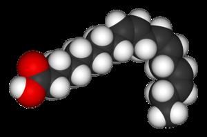 Alpha-Linolenic acid - Image: Linolenic acid 3D vd W