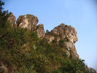 Lion Rock - The lion shaped rock viewed from the west