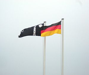 Jalsa Salana - Liwa-e-Ahmadiyya and the Flag of Germany