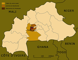 Koudougou - Location of Koudougou