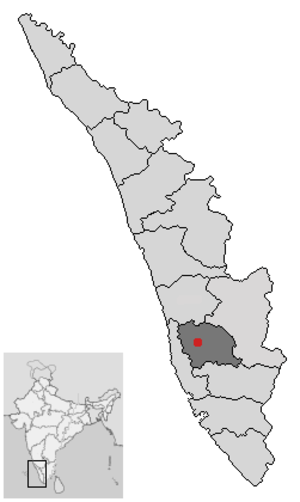 Red rain in Kerala - Kottayam district in Kerala, which experienced the most red rainfall