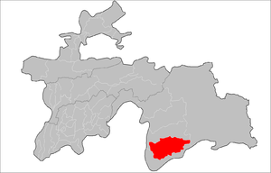 Roshtqal'a District - Image: Location of Roshtqal'a District in Tajikistan