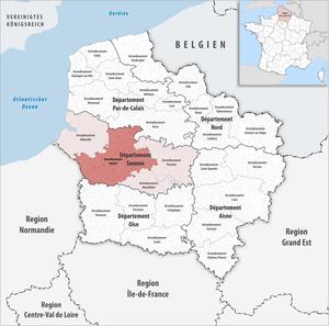 Arrondissement of Amiens - Image: Locator map of Arrondissement Amiens