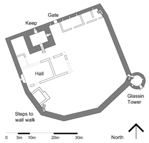 Loch Leven Castle - Ground floor plan of Loch Leven Castle
