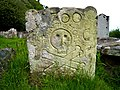 Logie Old Kirk, 18th century gravestone - geograph.org.uk - 795250.jpg