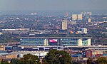 London, view from Shooters Hill, City Airport.jpg
