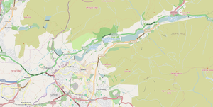 Longdendale Chain - The Londendale reservoirs relative to Glossop and Hadfield