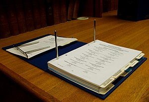A looseleaf binder for a continuing legal publ...