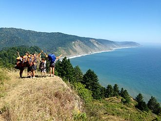Lost Coast - Backpackers taking-in the views of California's coastline