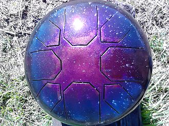Steel tongue drum - A steel tongue drum made by Lotus Drum in 2011
