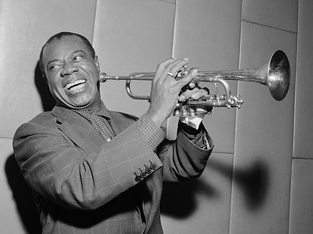 Trumpeter Louis Armstrong Louis Armstrong (1955).jpg