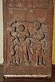 Lower Hairstyle Scene - Door Jamb Carved Story of Nand and Sundari-Depicting in Saundarananda Book - Circa 2nd Century CE - Gurgaon - ACCN 12-186 - Government Museum - Mathura 2013-02-23 5821.JPG