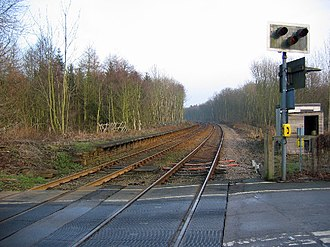 Lowthorpe railway station - Platform remains of Lowthorpe railway station in 2006
