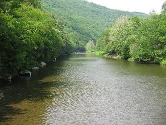 Loyalsock Creek - Loyalsock Creek from the Hillsgrove Covered Bridge