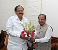 Lt. Governor of Andaman & Nicobar Islands Prof. Jagdish Mukhi and Vice President M. Venkaiah Naidu.jpg