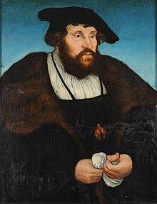 Lucas Cranach (I) - Bildnis Christians II., König von Dänemark (MbK, Leipzig).jpg