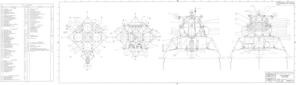 Lunar Module Equipment Locations 2 of 2