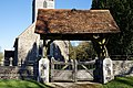 Lychgate of St Mary's Church, Great Canfield, Essex 03.jpg