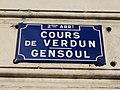 Lyon 2e - Cours de Verdun-Gensoul - Plaque (mars 2019).jpg