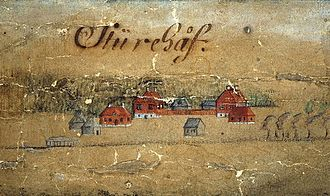 Sturehov Manor - Sturehov as depicted on a map dated 1689