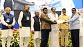 M. Venkaiah Naidu rewarded with performance incentive for promoting urban reforms under Atal Mission for Rejuvenation and Urban Transformation (AMRUT) during 2015-16, at a function, in New Delhi.jpg